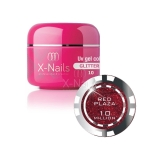 X-NAILS barevný UV gel s glitry Glitter Line, 5 ml - RED PLAZA