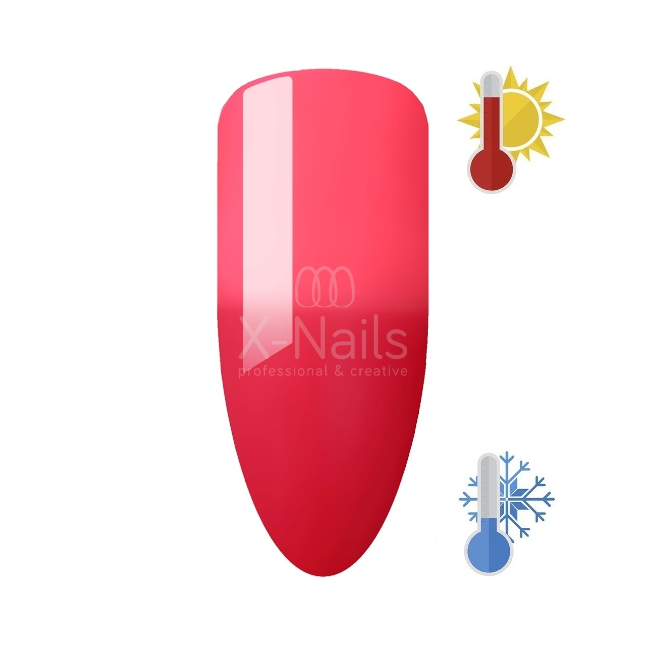 X-NAILS thermo gel lak Amazing Line 5 ml - RED ROSE
