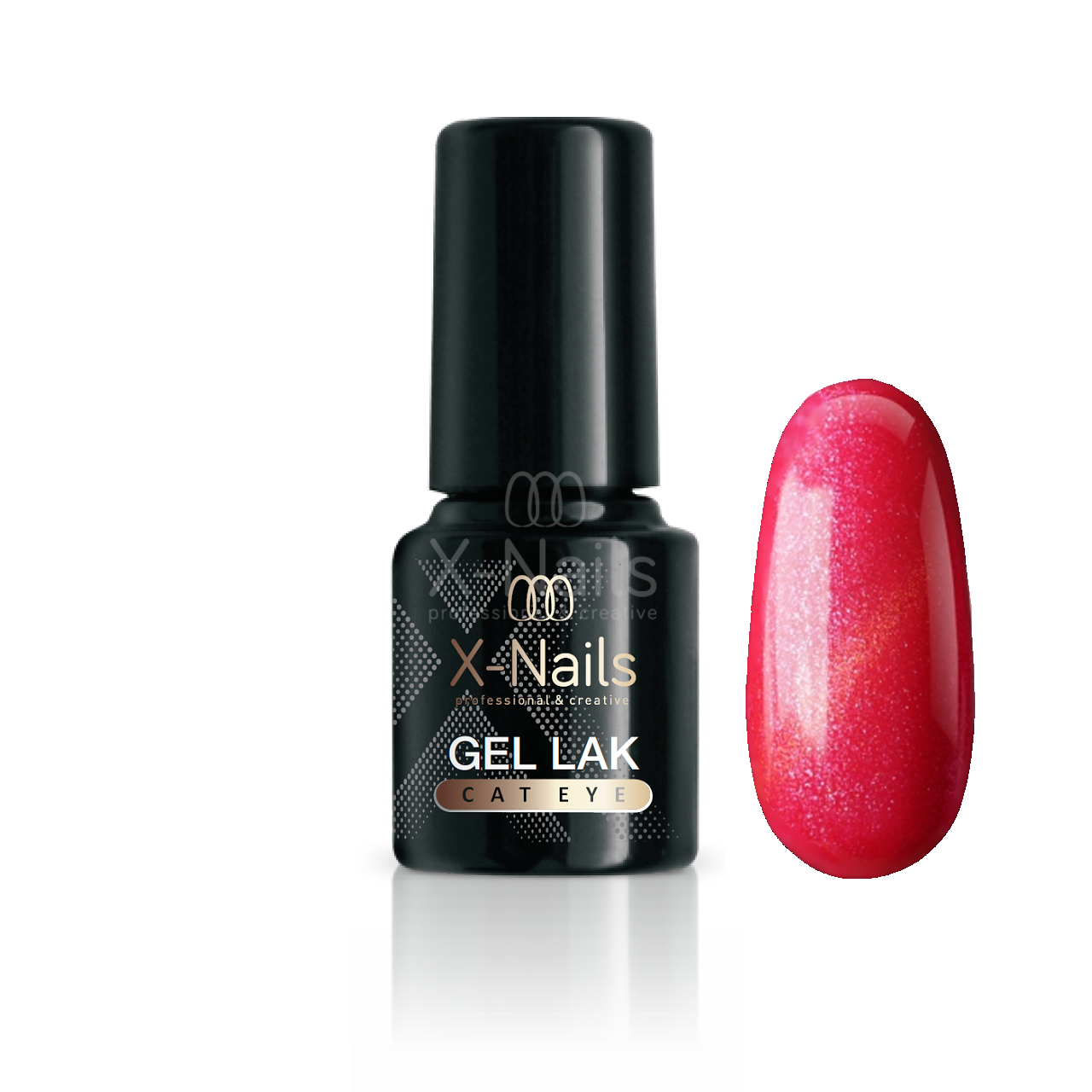 X-NAILS gel lak CAT EYE 6 ml - SERENA (světle růžový)