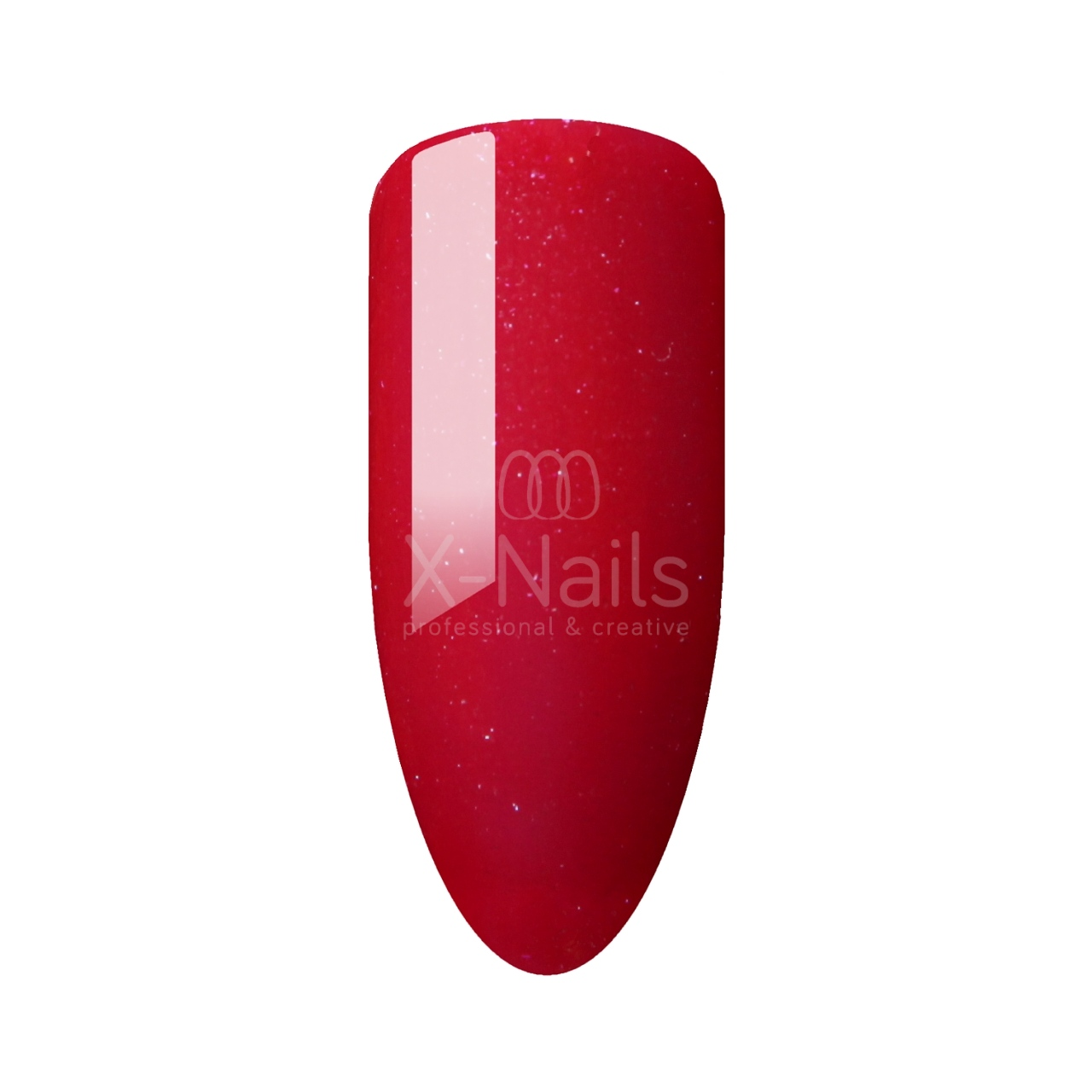 X-NAILS gel lak Amazing Line, 5 ml - SPARKLY RED