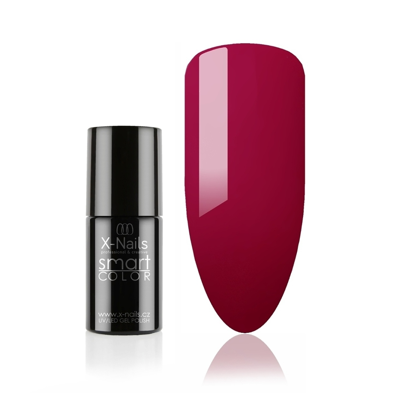 Bezvýpotkový no wipe gel lak Smart Line, 5ml - DEEP CERISE