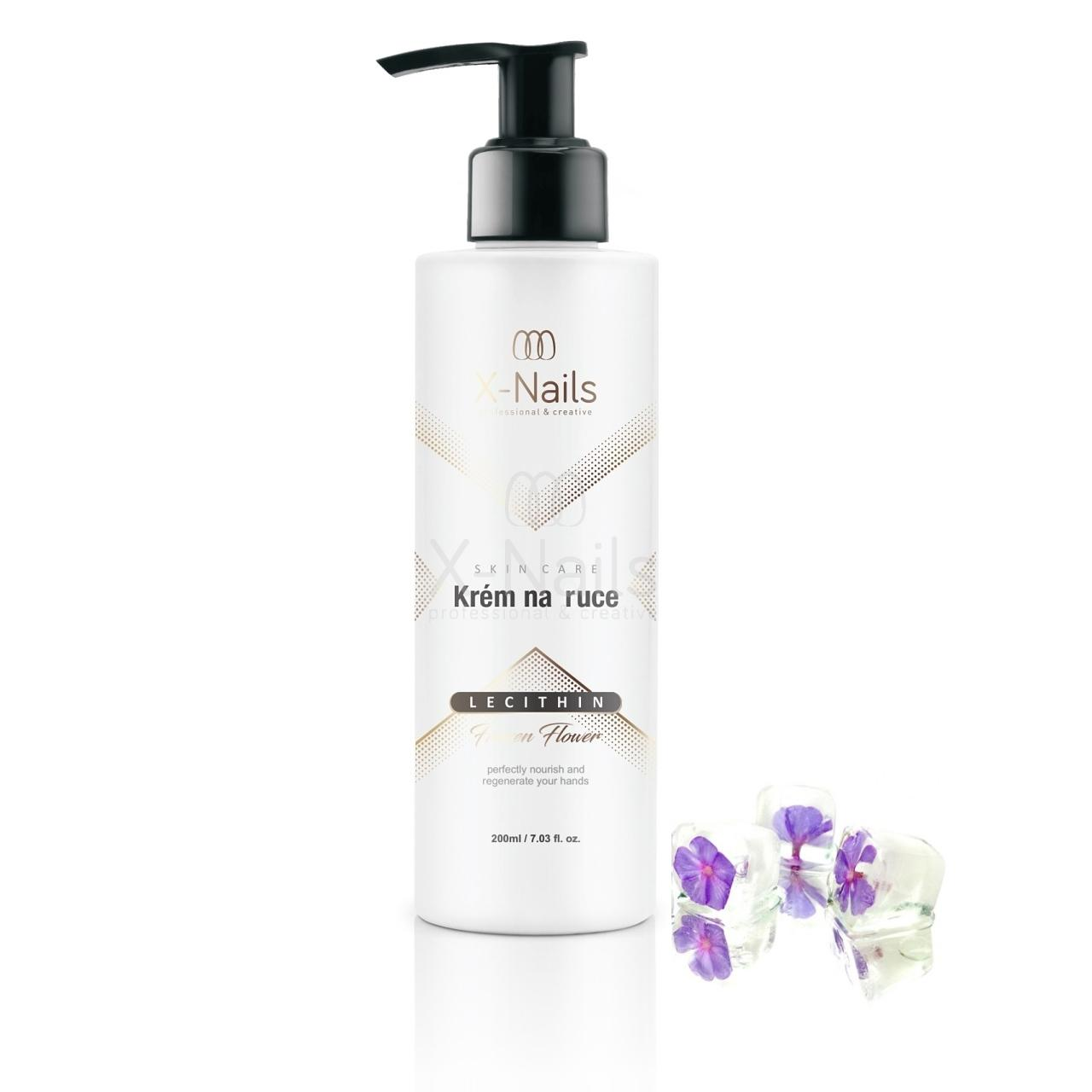 X-NAILS Krém na ruce  s lecithinem, 200 ml - Frozen Flower