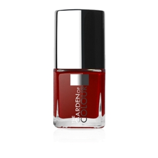 X-NAILS lak na nehty Color Line, 9 ml - DARK RED, lesklý -18