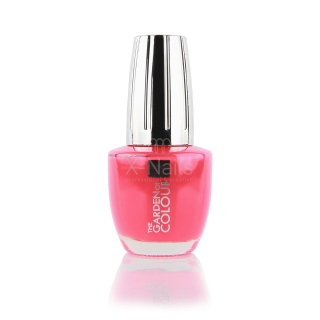 X-NAILS lak na nehty Color Line, 15 ml - CORAL RED, matný - 32