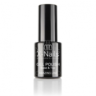 X-NAILS gel lak 2 v 1 Amazing Line, 10 ml - UV/LED BASE & TOP