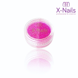 X-NAILS Pigment na nehty svítící ve tmě - Glow in the Dark TRUE PINK
