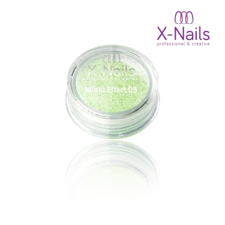 X-NAILS Zrcadlový mirror efekt glitter – LIGHT GREEN EXCLUSIVE MERMAID