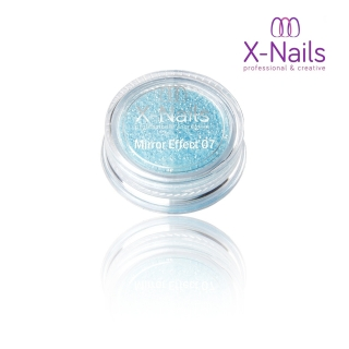 X-NAILS Zrcadlový mirror efekt glitter – LIGHT BLUE EXCLUSIVE MERMAID