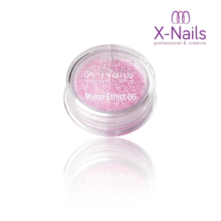 X-NAILS Zrcadlový mirror efekt glitter – LIGHT PINK EXCLUSIVE MERMAID