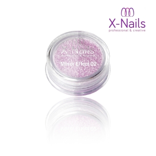 X-NAILS Zrcadlový mirror efekt glitter – PURPLE EXCLUSIVE MERMAID