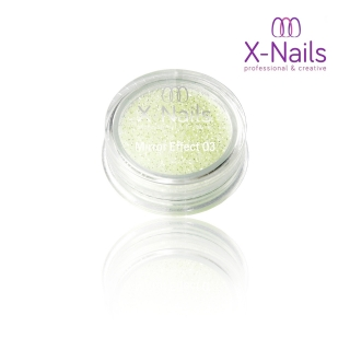 X-NAILS Zrcadlový mirror efekt glitter – PISTACIO EXCLUSIVE MERMAID