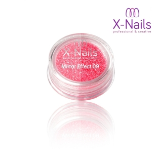 X-NAILS Zrcadlový mirror efekt glitter – PINK EXCLUSIVE MERMAID