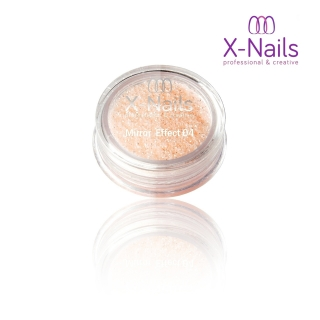 X-NAILS Zrcadlový mirror efekt glitter – PEACH EXCLUSIVE MERMAID