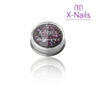 X-NAILS holografický leštící pigment na nehty – ALL BEST EFFECT IN ONE PURPLE