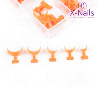 X-NAILS nehtové tipy v boxu 100 ks - QUICK FRENCH WRAP ORANGE