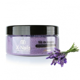X-NAILS Sůl do koupele - LEVANDULE 350g