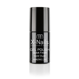X-NAILS zakončovací vrchní gel lak 5 ml – top coat QUICK FINISH STAR DUST GOLD