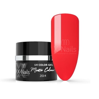 X-NAILS bezvýpotkový UV/LED gel Master Line, 5 ml - CORAL RED
