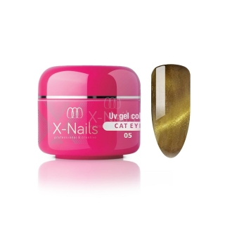 X-NAILS barevný UV gel Cat Eye Line, 5 ml - CAT EYE JAGUAR
